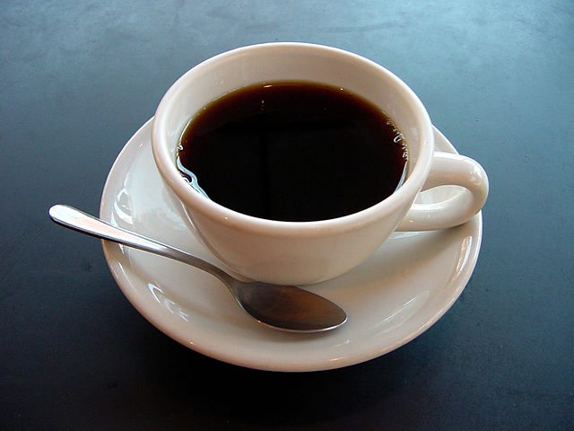 """A small cup of coffee"" by Julius Schorzman - Own work. Licensed under CC BY-SA 2.0 via Wikimedia Commons"