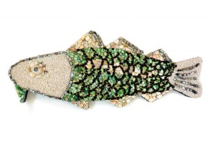 Bid on a Cod for the Marblehead Arts Festival. This cod is a mosaic by Patti DiCarlo Baker